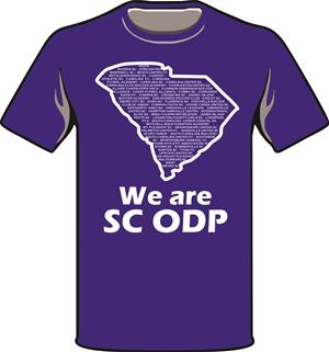 ODP, We are ODP Front logo t-shirt- royal Image