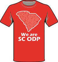 ODP, We are ODP Front logo t-shirt- red