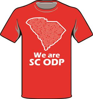 ODP, We are ODP Front logo t-shirt- red Image